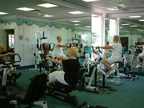 The exercise room at Pinelake Village.