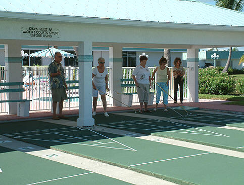 Shuffleboard anyone?  Have fun at Pinelake Village.